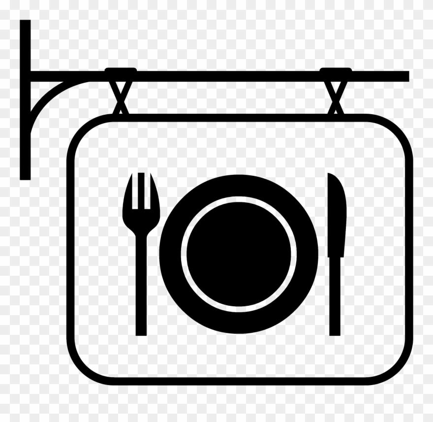 Restuarant clipart clip art transparent Safe Clipart Restaurant - Restaurant Clipart Black And White - Png ... clip art transparent