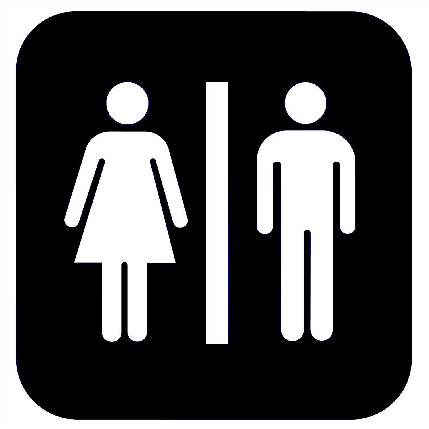Clipart restroom sign with arrow clip free Clipart restroom signs - ClipartFest clip free