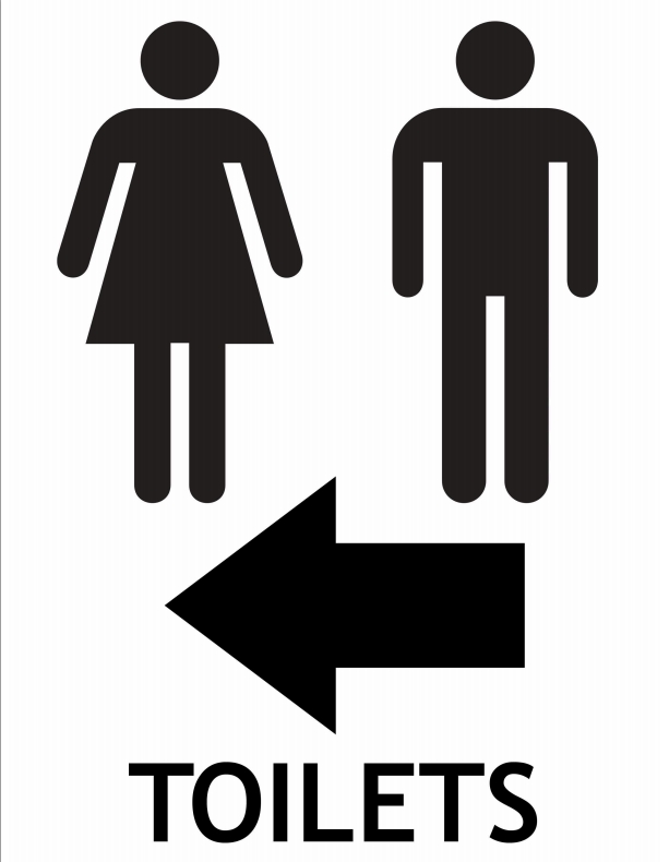Clipart restroom sign with arrow clip freeuse Clipart restroom sign with arrow - ClipartFest clip freeuse
