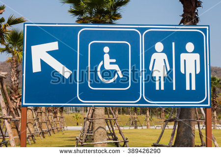 Clipart restroom sign with arrow royalty free Clipart restroom sign with arrow in sky blue - ClipartFest royalty free
