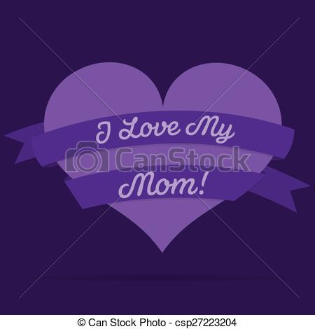 Clipart ribbon in logo format png freeuse Vector Clipart of Mother's Day heart with ribbon card in vector ... png freeuse
