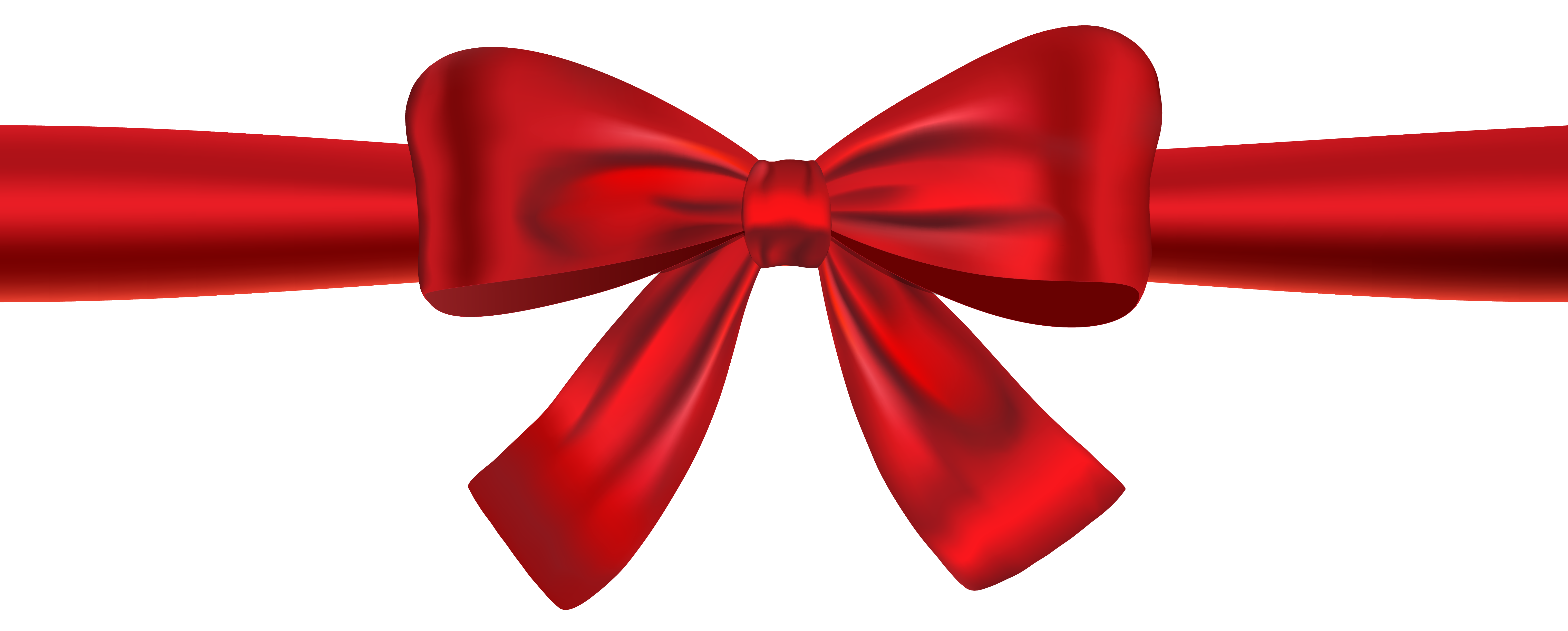 Red christmas bow clipart png royalty free Red Ribbon and Bow PNG Clipart Image png royalty free