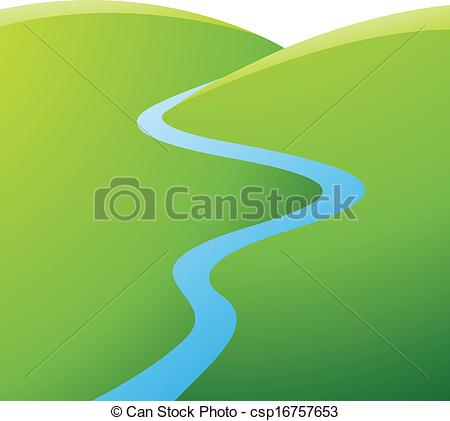 Vector and illustration clip. Clipart river
