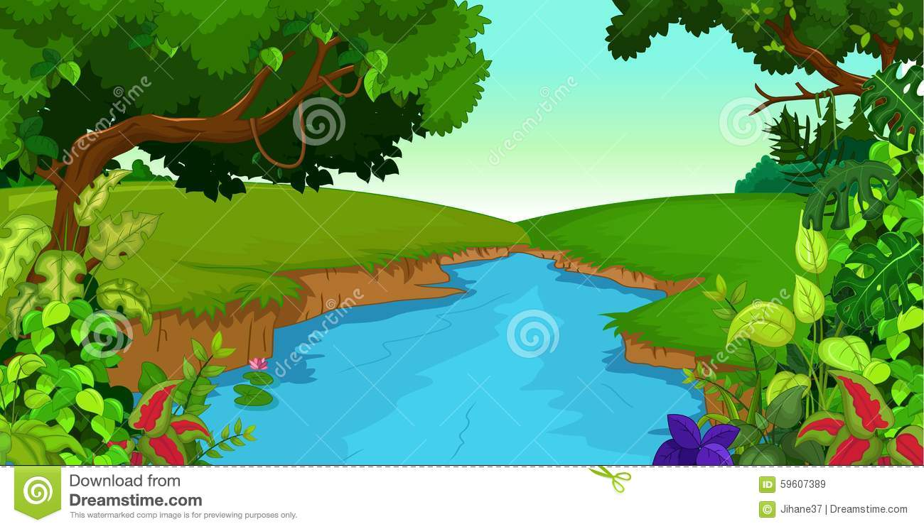 Forest and clip art. Clipart river