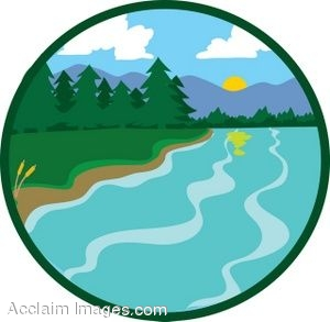 Clipart river. And trees kid clip