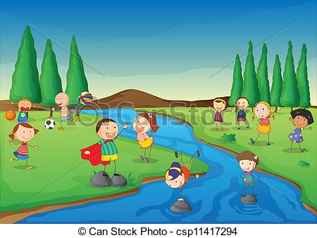Clipart river. Small stock illustrations clip