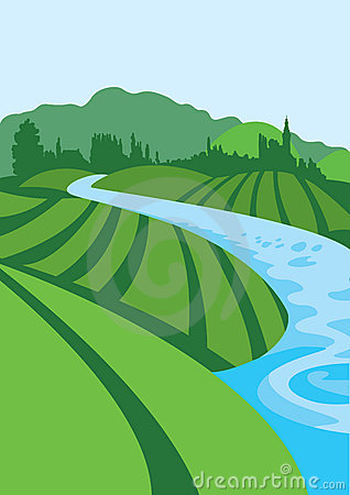 Flowing kid clip art. Clipart river