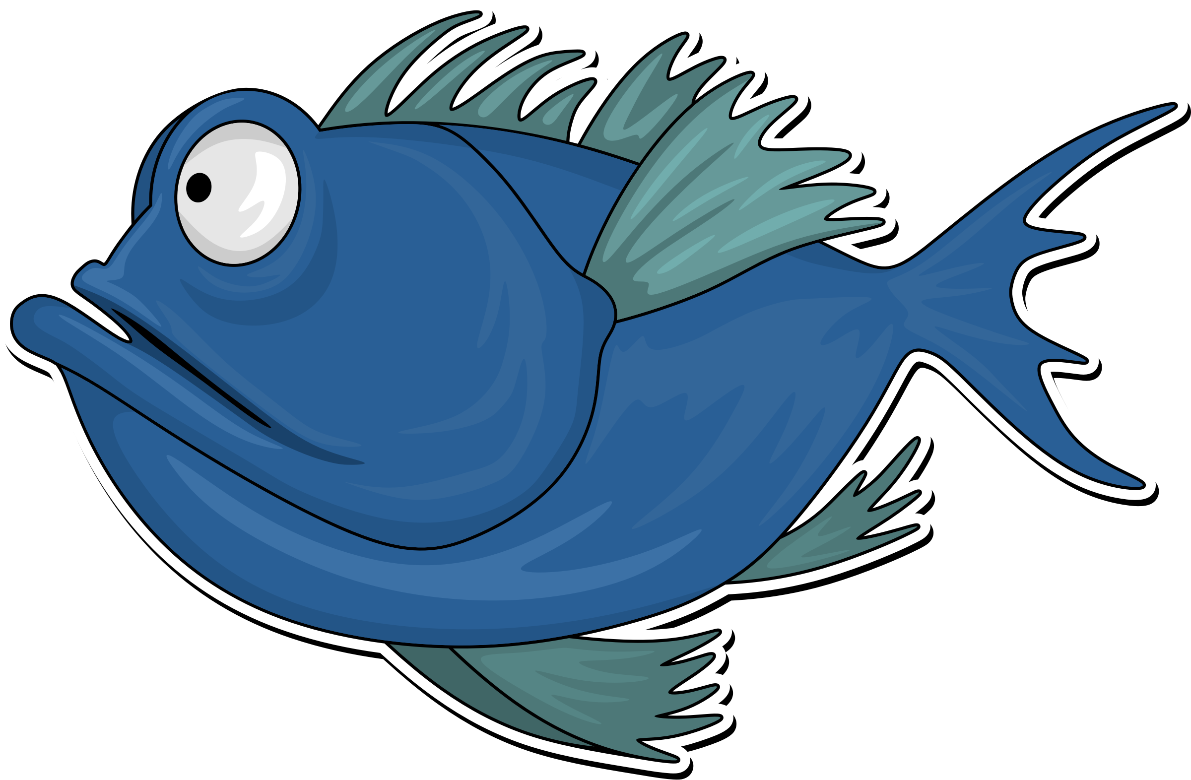 Fish lake clipart vector royalty free download Clipart - Cartoon fish 2 vector royalty free download