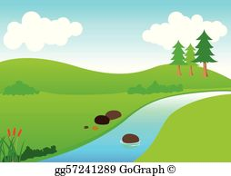 Clipart rivers streams picture freeuse download River Clip Art - Royalty Free - GoGraph picture freeuse download
