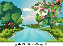 Clipart rivers streams vector library stock River Clip Art - Royalty Free - GoGraph vector library stock