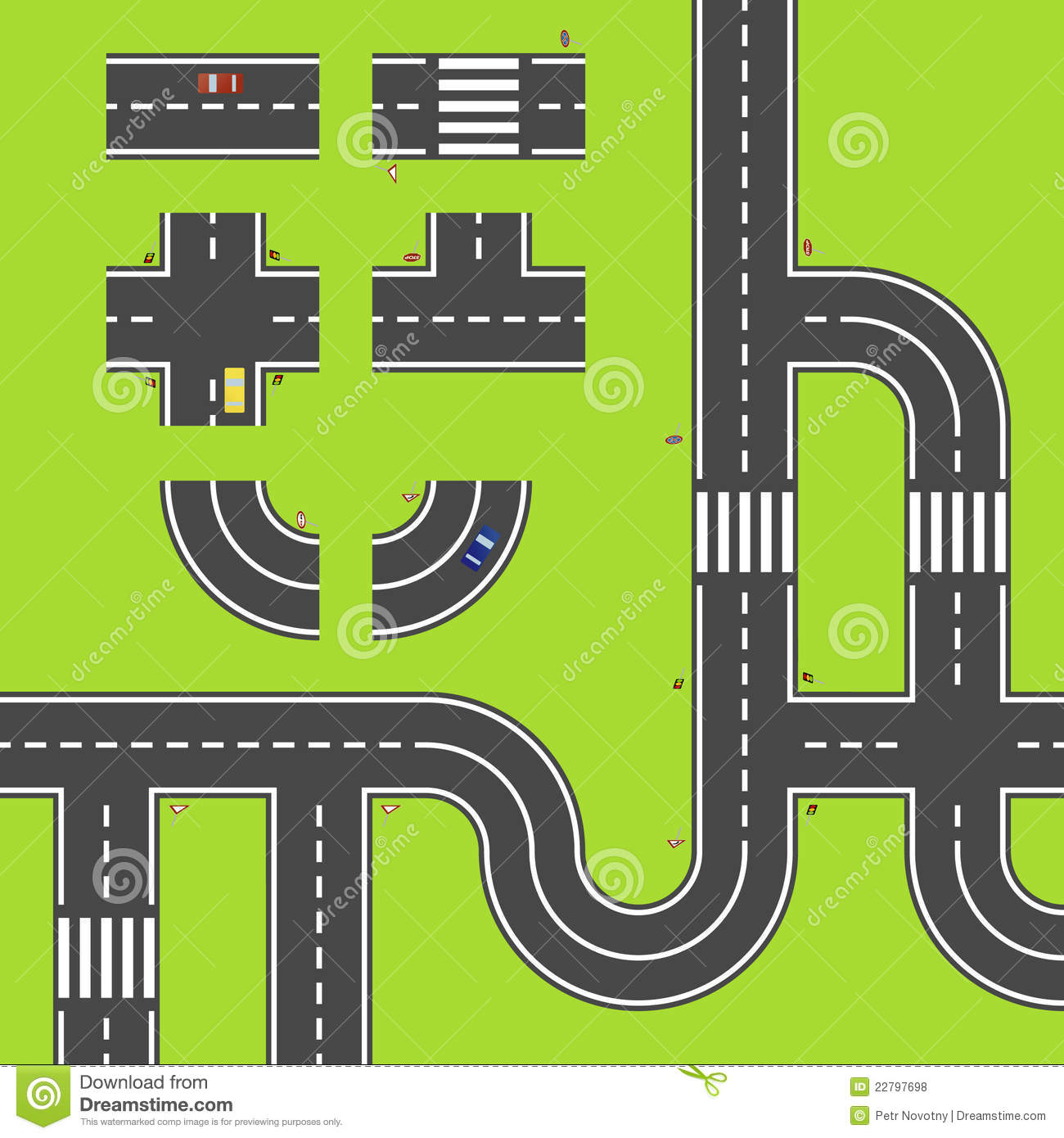 Clipart road map picture royalty free Simple road map clipart - ClipartFest picture royalty free