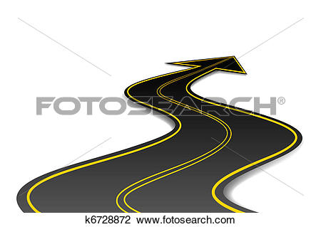 Clipart road with an arrow banner free library Clipart of Arrow Shape Road k6728872 - Search Clip Art ... banner free library