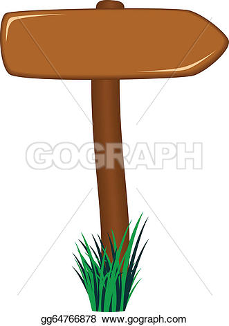 Clipart road with an arrow graphic freeuse Clip Art Vector - Wooden road sign as arrow in grass. Stock EPS ... graphic freeuse