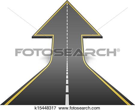 Clipart road with an arrow vector black and white stock Clipart of Arrow Shape Road k6728872 - Search Clip Art ... vector black and white stock