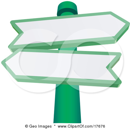 Clipart road with an arrow picture free download Clipart 3d Arrow Street Signs Posted In A Patch Of Flowers ... picture free download