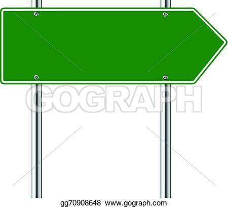 Clipart road with an arrow clip art stock EPS Illustration - Green arrow to the right road sign. Vector ... clip art stock