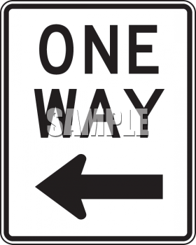 Clipart roadsign 18 png royalty free stock Royalty Free Clip Art Image: Road Signs-One Way with Arrow Left png royalty free stock