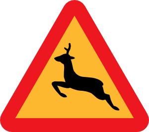 Clipart roadsign 18 picture royalty free Warning Deer Road Sign Clip Art at Clker.com - vector clip art ... picture royalty free