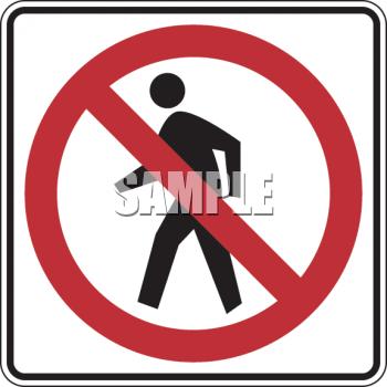 Clipart roadsign 18 vector download Royalty Free Clip Art Image: Road Sign-No Pedestrian Crossing Symbol vector download