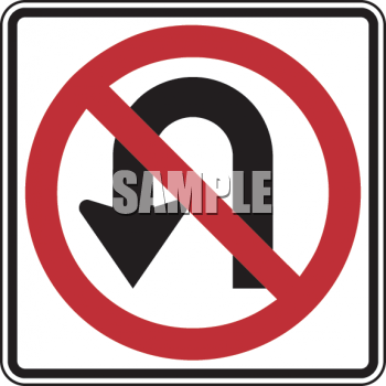 Clipart roadsign 18 freeuse library Road Sign-No U-Turn Symbol - Royalty Free Clip Art Picture freeuse library