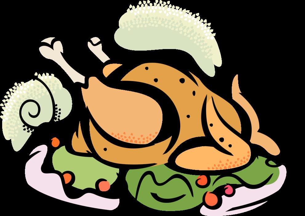 Roast Turkey Dinner - Vector Image png royalty free download