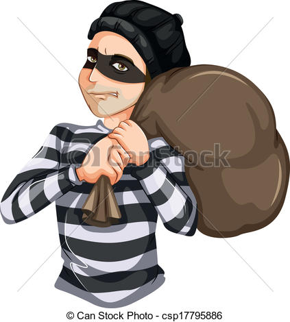 Clipart robber black and white stock Robbery Clipart - Clipart Kid black and white stock