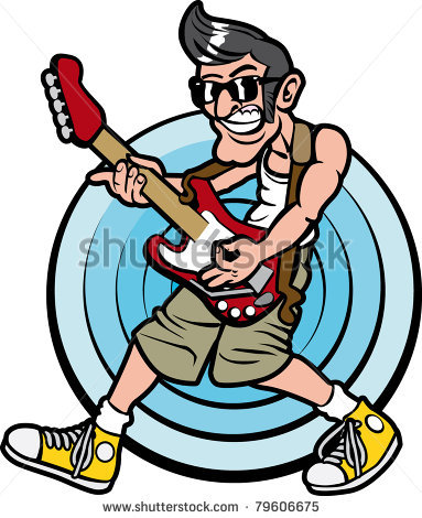 Clipart rock and roll royalty free stock Rock & Roll music guitar man   Clipart Panda - Free Clipart Images royalty free stock