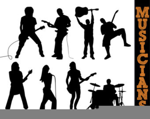 Rockband clipart picture library stock Cliparts Rock Band   Free Images at Clker.com - vector clip art ... picture library stock