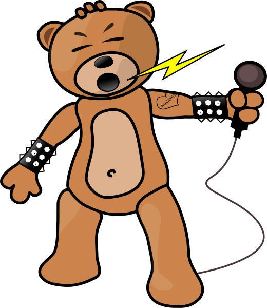 Singing star clipart clip art freeuse download Free Teddy Bear Clipart & Animations clip art freeuse download
