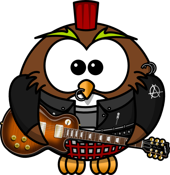 Rock star kid clipart image royalty free download Owl Rock Star PNG, SVG Clip art for Web - Download Clip Art, PNG ... image royalty free download