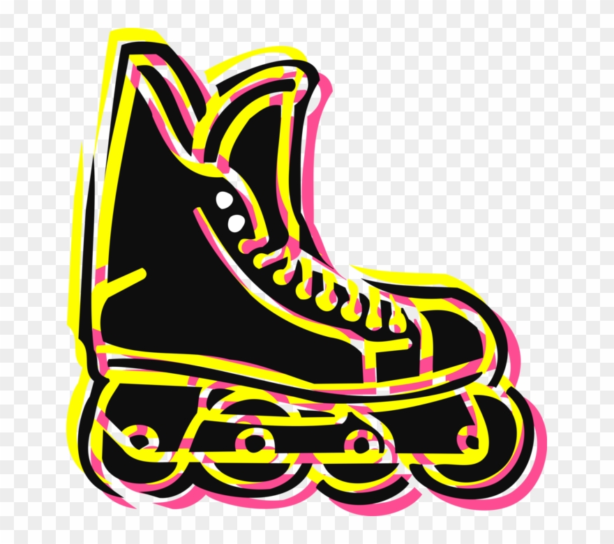 Rollerblading clipart