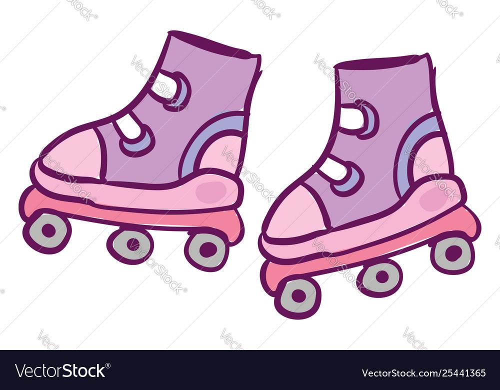 Clipart rollerskates banner freeuse stock Clipart cute roller skates for kids in banner freeuse stock