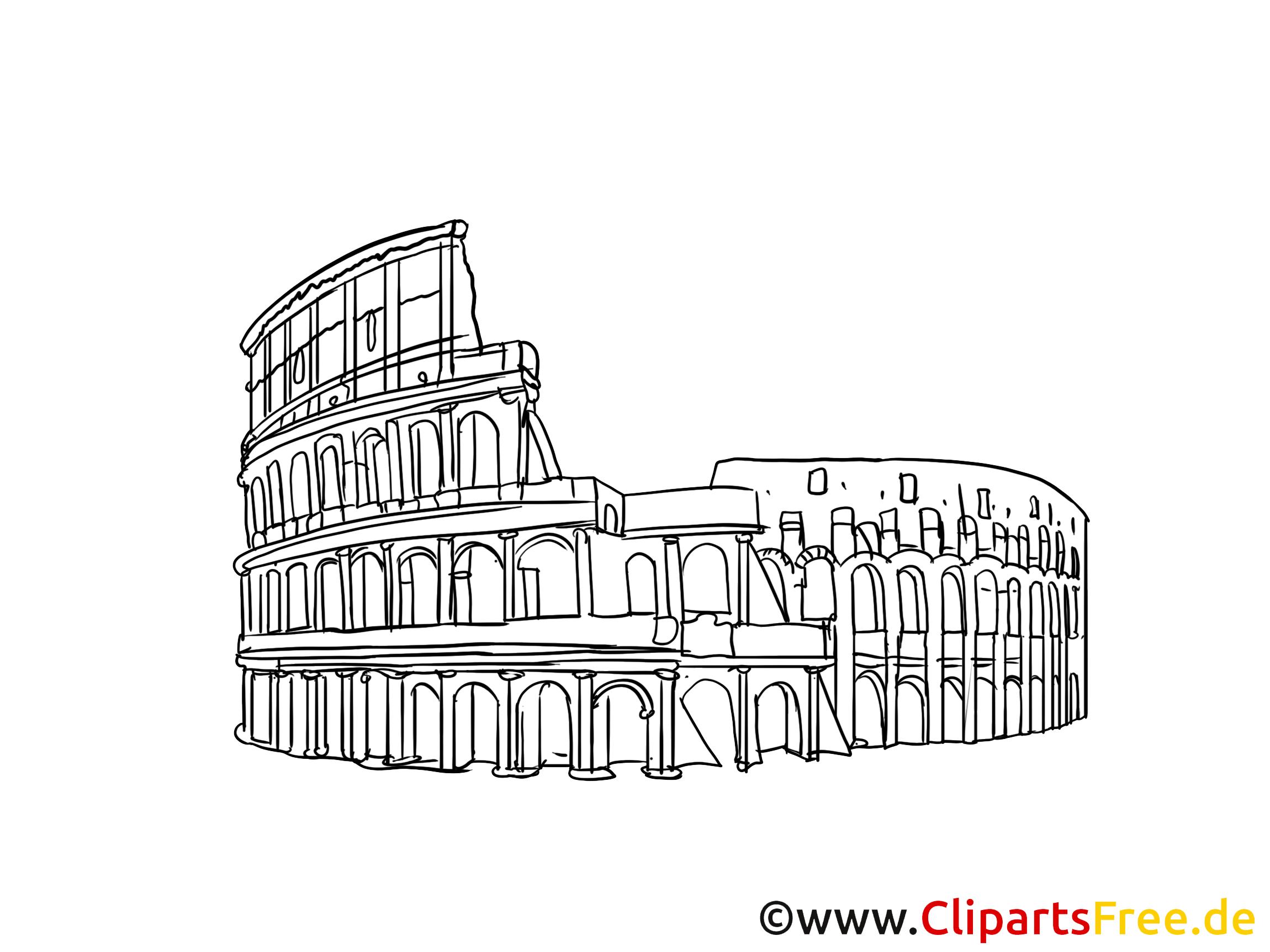 Clipart rome gratuit picture freeuse Rome clipart gratuit - Colisée cartes gratuites - Voyage dessin ... picture freeuse