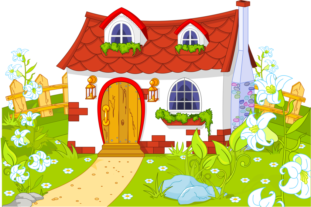 House garden clipart banner black and white stock fairytale_town_#2 (3) [преобразованный].png | Pinterest | Album banner black and white stock
