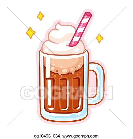 Clipart root beer png download Vector Illustration - Root beer float. EPS Clipart gg104931034 - GoGraph png download