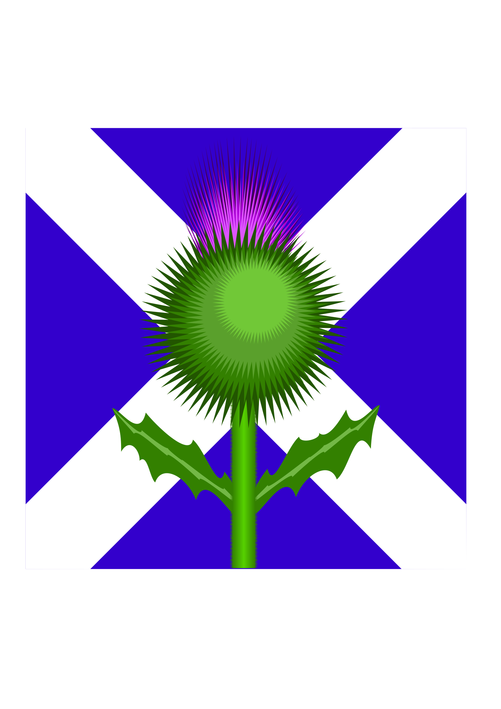 Cross with greenery clipart clip library library Scottish Thistle and flag by @kevie, The two national emblems: the ... clip library library