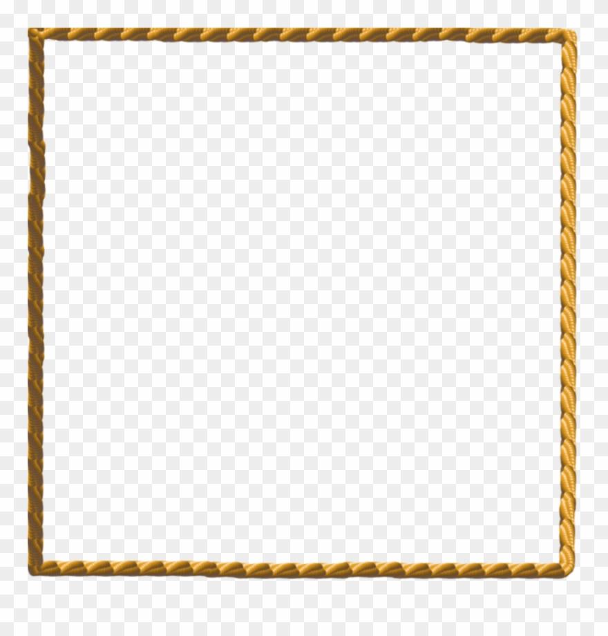 Clipart rope border clip art transparent download Rope Border Png Clipart Borders And Frames Clip Art - Gold Rope ... clip art transparent download