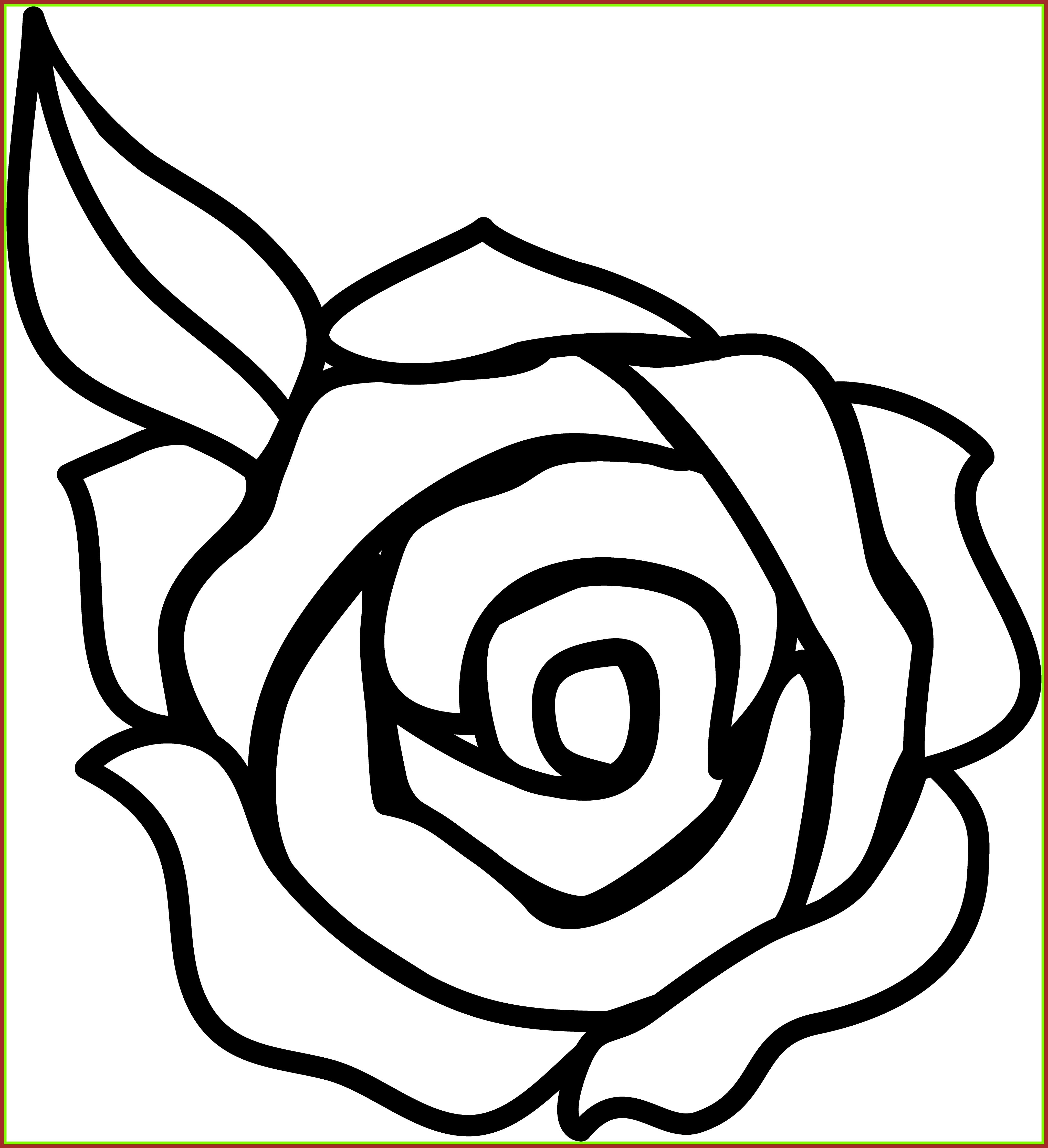 Incredible Great Clipart Rose Flower Black And Picture For Concept ... png download