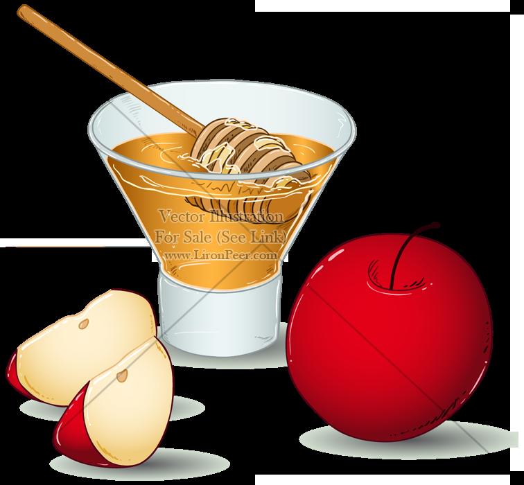 Clipart rosh hashanah graphic royalty free Illustration, Food, Fruit, transparent png image & clipart free download graphic royalty free