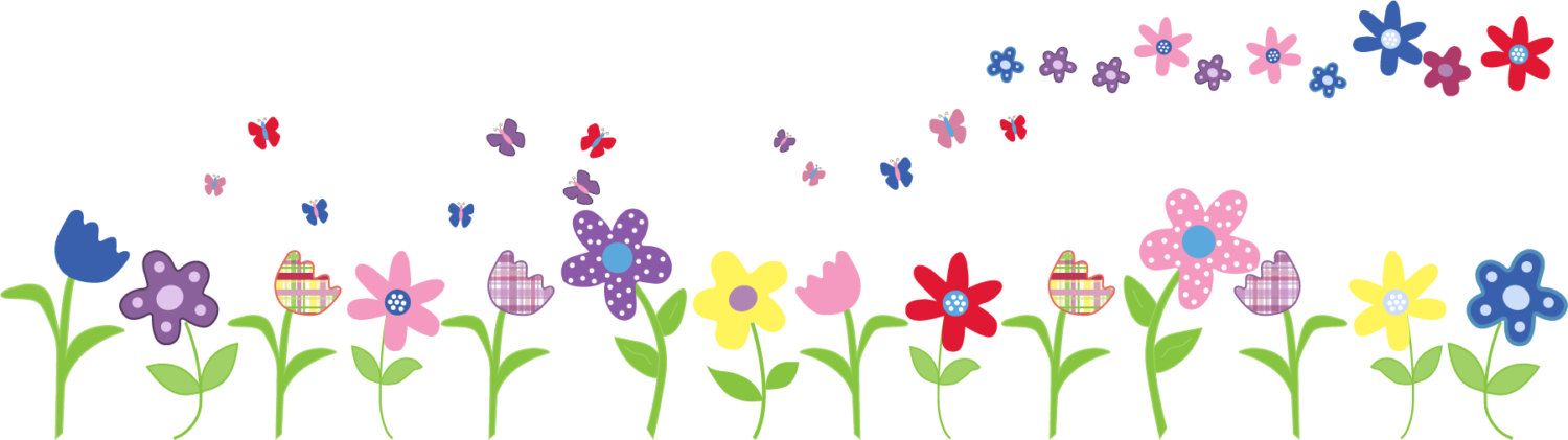 Clipart row of flowers - ClipartFest banner transparent stock