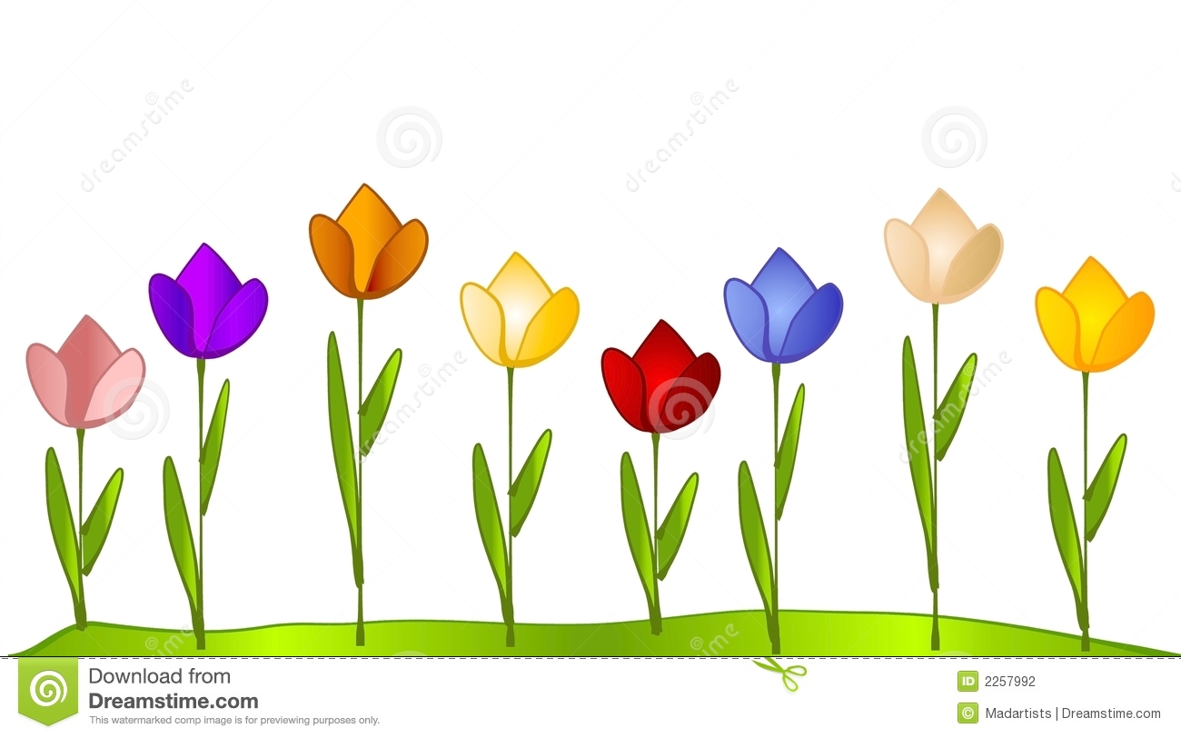 Row of flowers clip art - ClipartFest graphic free download