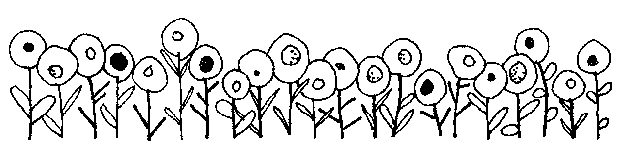 Mormon Share } Flowers In A Row clipart
