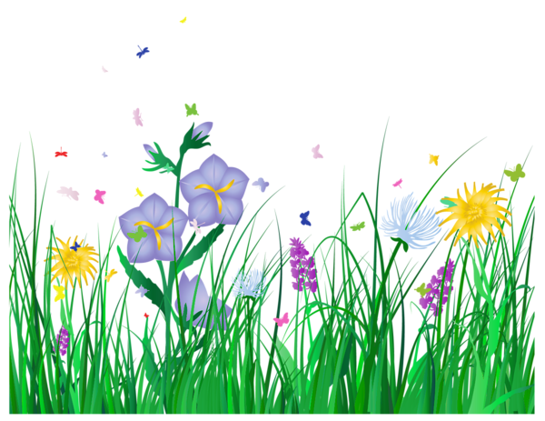 Clipart row of flowers - ClipartFest vector freeuse library
