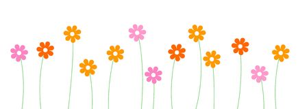 Row of flowers clip art - ClipartFest svg library