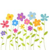 Row Of Flowers Clipart | Clipart Panda - Free Clipart Images svg transparent download