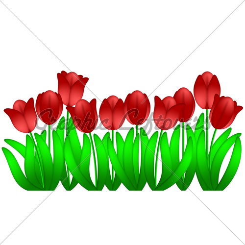 Row Of Spring Flowers Clipart | Clipart Panda - Free Clipart Images picture royalty free library