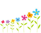 Row Of Flowers Clipart vector freeuse library