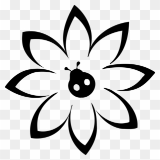 Row of flowers black and white clipart clip black and white library March Clipart Row Flower - Цветы Шаблон - Png Download - Full Size ... clip black and white library