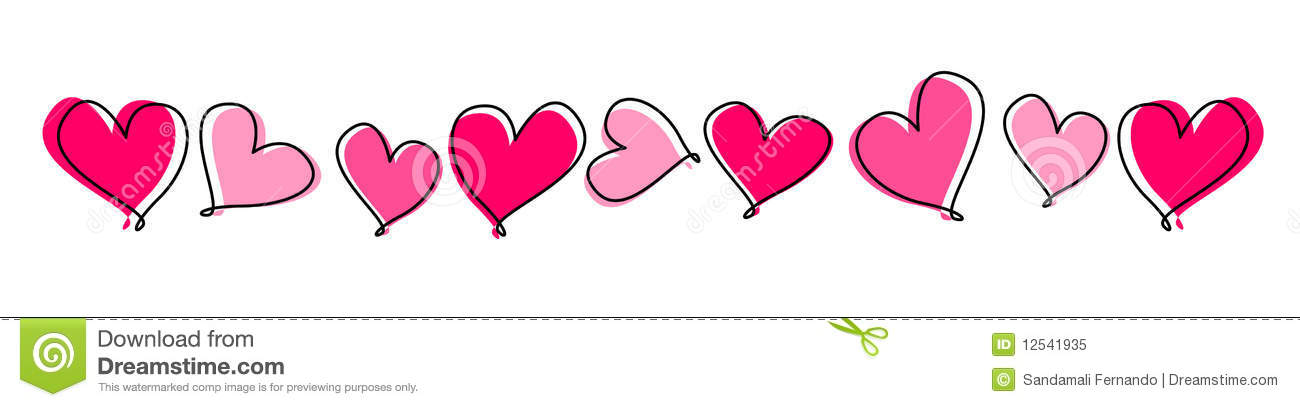 Clipart row of hearts vector library Clipart row of hearts - ClipartFest vector library