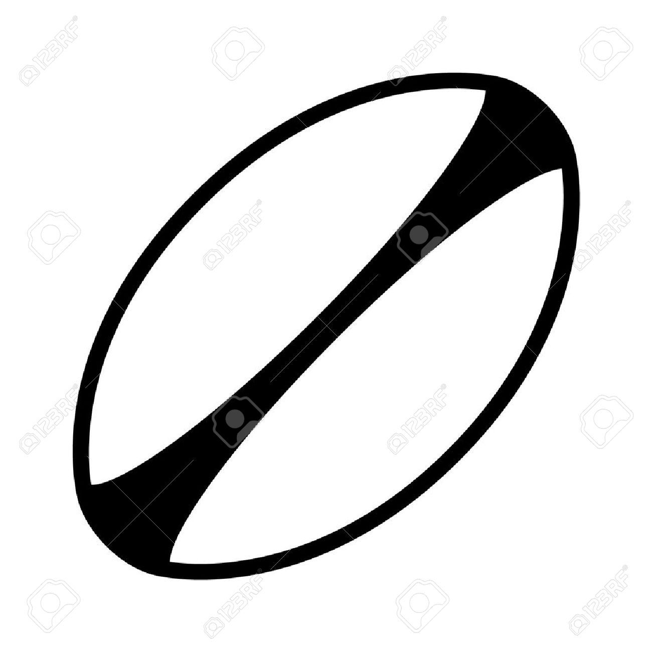 Clipart rugby ball banner library Rugby ball clipart black and white 5 » Clipart Portal banner library